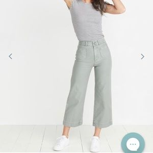 Marine Layer Bridget wide leg pants XS sage